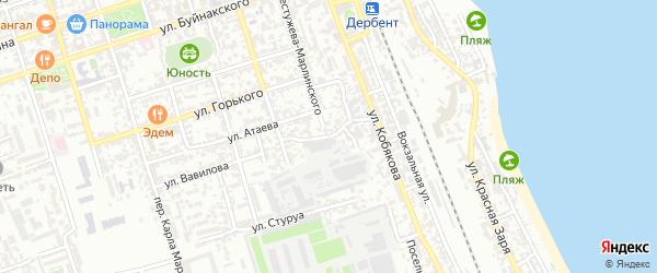 Улица Г.Давыдовой на карте Дербента с номерами домов