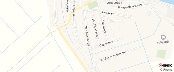 Молодежная улица на карте села Забузана с номерами домов