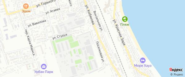 Наклонная улица на карте Дербента с номерами домов