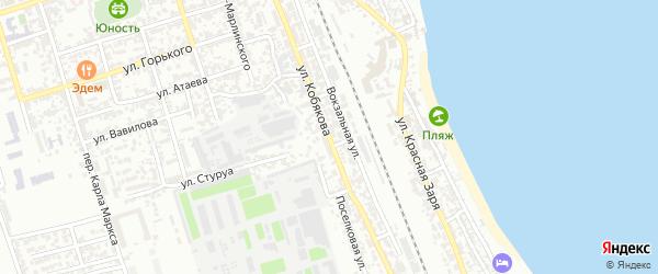 Тупик Кобякова на карте Дербента с номерами домов