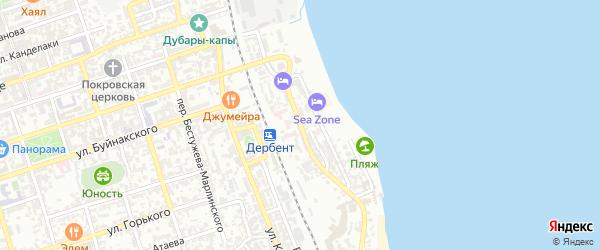 Улица Тахо-Годи на карте Дербента с номерами домов