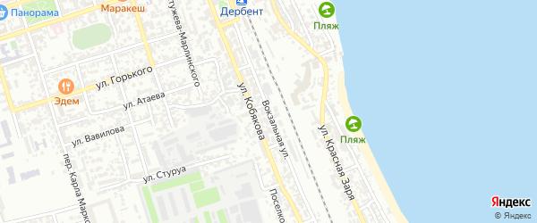 Вокзальная улица на карте Дербента с номерами домов
