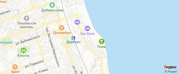 Улица М.Далгата на карте Дербента с номерами домов