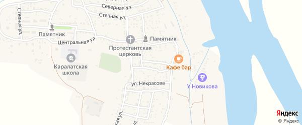 Рабочий переулок на карте села Каралат с номерами домов