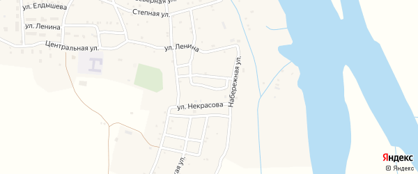Улица Куйбышева на карте села Каралат с номерами домов