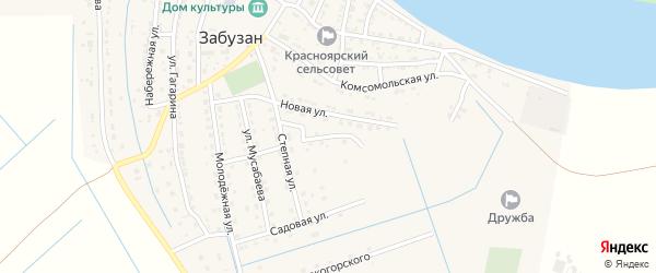 Улица Миронова на карте села Забузана с номерами домов