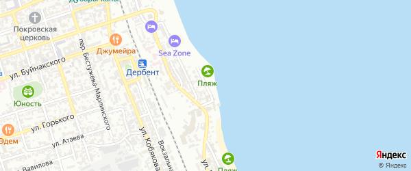 Улица М.Ахундова на карте Дербента с номерами домов