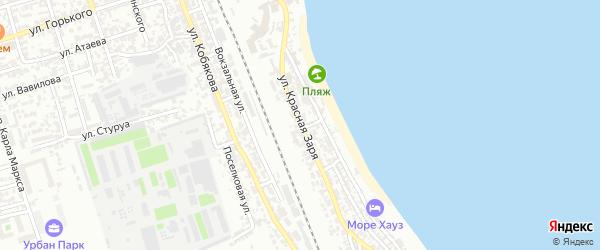 Улица Красная Заря на карте Дербента с номерами домов