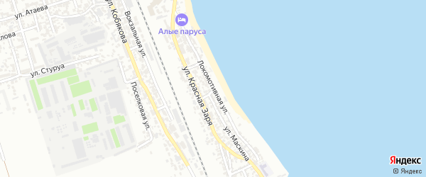 Локомотивная улица на карте Дербента с номерами домов