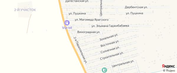 Садовая улица на карте села Нижнего Джалган с номерами домов
