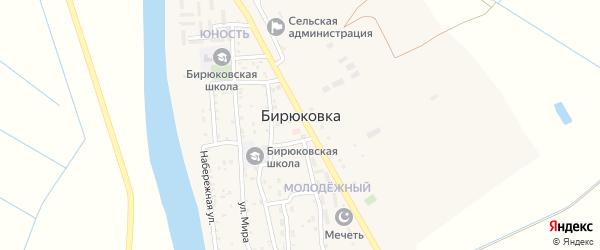 Солнечная улица на карте села Бирюковки с номерами домов