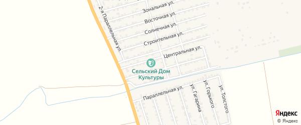 Солнечная улица на карте села Нижнего Джалган с номерами домов