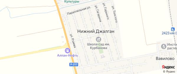 Улица Коммунаров на карте села Нижнего Джалган с номерами домов