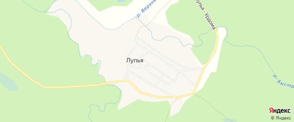 Карта поселка Лупья в Архангельской области с улицами и номерами домов