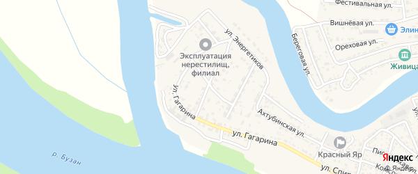 Тополиный переулок на карте села Красного Яра с номерами домов