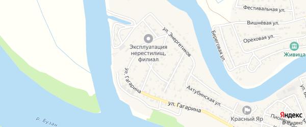 Тополиная улица на карте села Красного Яра с номерами домов