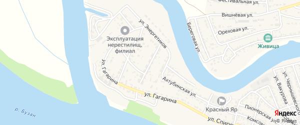 Ахтубинский переулок на карте села Красного Яра с номерами домов