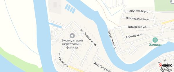 Улица Энергетиков на карте села Красного Яра с номерами домов