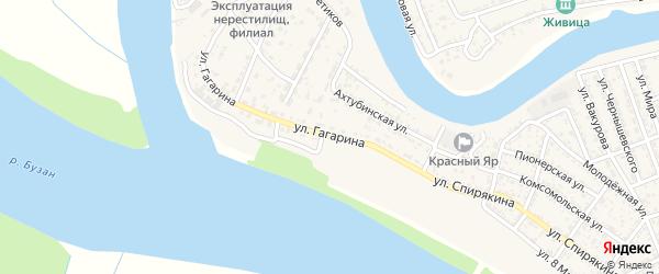 Улица Гагарина на карте села Красного Яра с номерами домов
