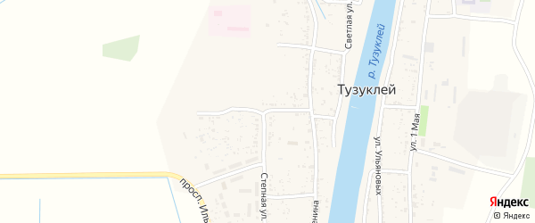 Улица Космонавтов на карте села Тузуклей с номерами домов