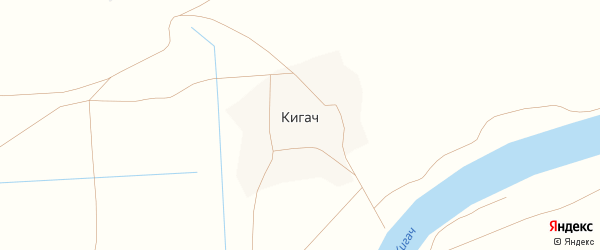 Степная улица на карте поселка Кигач с номерами домов