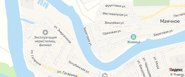 Солнечная улица на карте Маячного села с номерами домов