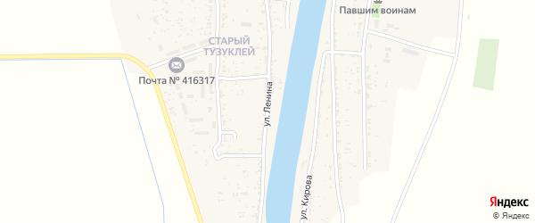 Улица Ленина на карте села Тузуклей с номерами домов