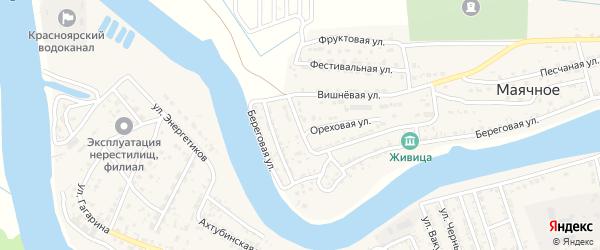 Яблоневый переулок на карте Маячного села с номерами домов
