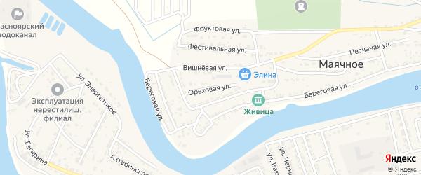 Ореховая улица на карте Маячного села с номерами домов