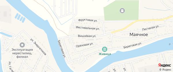Вишневая улица на карте Маячного села с номерами домов