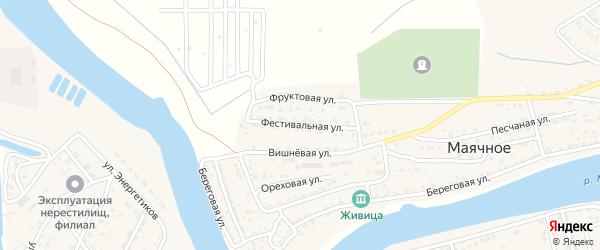 Фестивальная улица на карте Маячного села с номерами домов