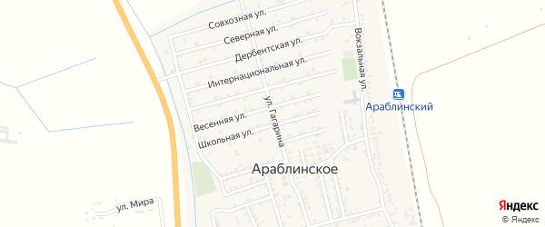 Улица Гагарина на карте села Уллу-Теркеме с номерами домов