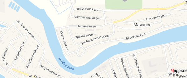Улица Механизаторов на карте Маячного села с номерами домов