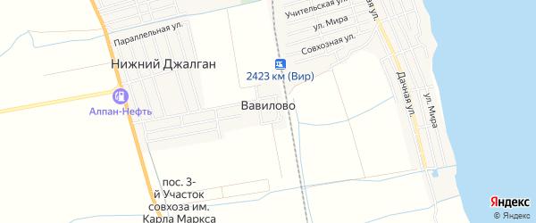 Карта села Вавилово в Дагестане с улицами и номерами домов