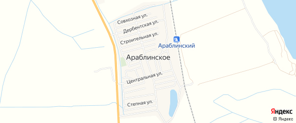 Карта Араблинское села в Дагестане с улицами и номерами домов