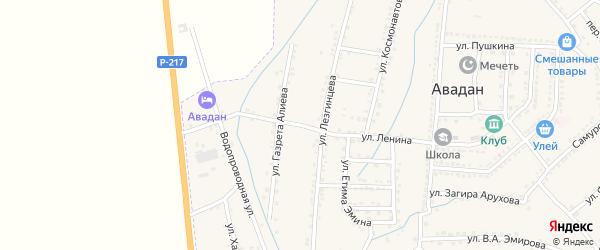 Центральная улица на карте села Чулавара с номерами домов
