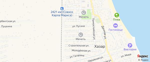Улица Коммунаров на карте села Хазара с номерами домов