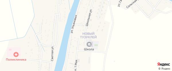 Зеленая улица на карте села Тузуклей с номерами домов