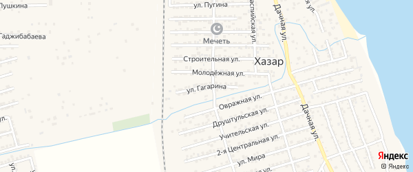 Улица Гагарина на карте села Хазара с номерами домов