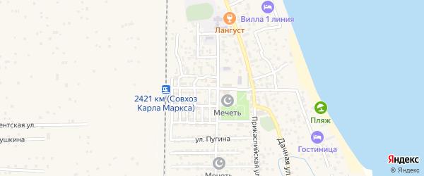 Центральная улица на карте села Хазара с номерами домов