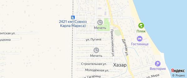 Улица Пугина на карте села Хазара с номерами домов