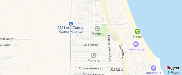 Параллельная 2-я улица на карте села Хазара с номерами домов