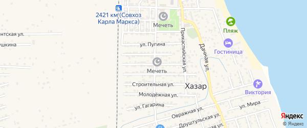Улица Ф.Энгельса на карте села Хазара с номерами домов