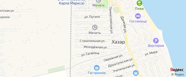 Школьная улица на карте села Хазара с номерами домов