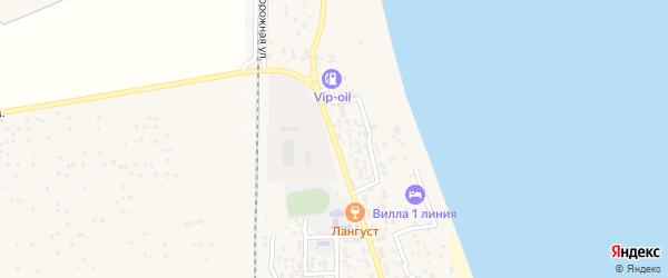 Набережная улица на карте села Хазара с номерами домов
