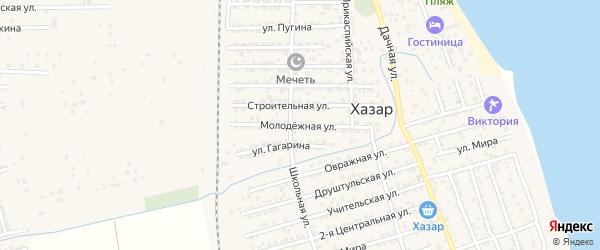 Молодежная улица на карте села Хазара с номерами домов