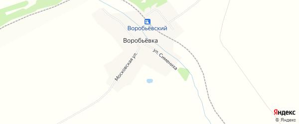 Карта деревни Воробьевки в Чувашии с улицами и номерами домов
