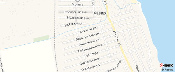 Друштульская улица на карте села Хазара с номерами домов