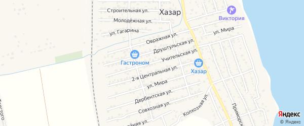 Учительская улица на карте села Хазара с номерами домов