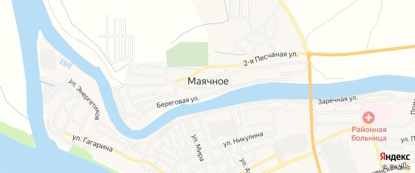 Карта Маячного села в Астраханской области с улицами и номерами домов